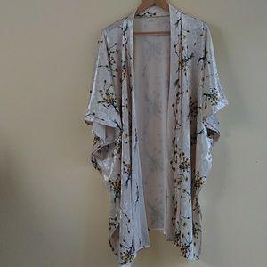 Anthropologie Floreat Floral Velvet Robe